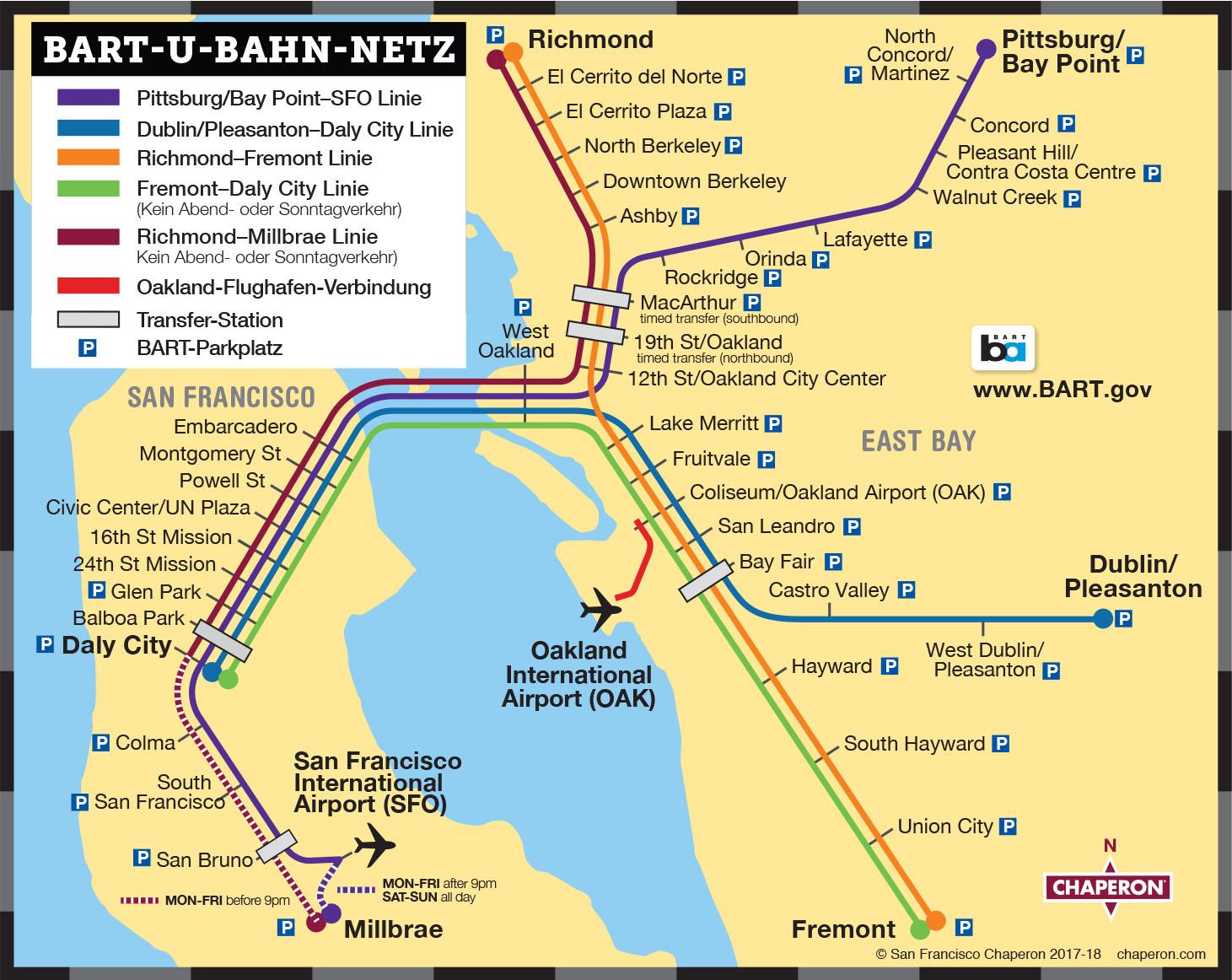 Verkehrsmittel in San Francisco   Stadtführer von San Francisco Chaperon